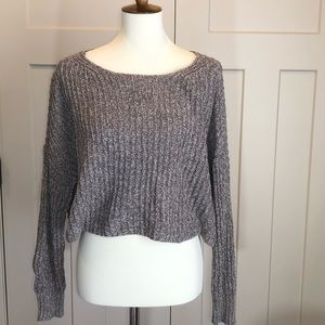 American Eagle Cropped Knit Sweater Medium